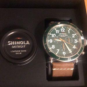 Shinola Men's Runwell watch w/ Leather Strap